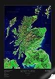 Satellitenbildkarte Schottland, Planokarte -