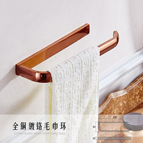 Rose Verchromen (LongFaEuropean Stil einfach Verchromen, Rose, Gold, einfache Kupfer Handtuch Ringe, Handtuchhalter, Badezimmer, Badezimmer hardware Anhänger)
