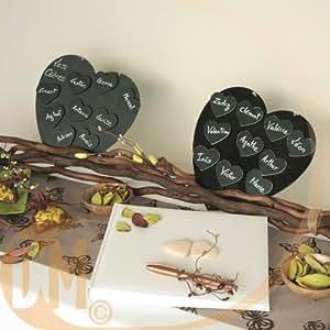Santex 3274 Coeur Bois Livre d'Or Chocolat