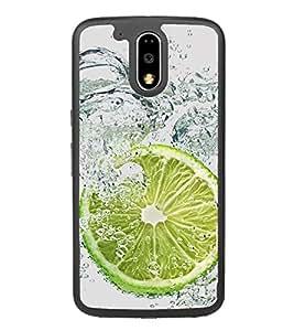 PrintVisa Designer Back Case Cover for Motorola Moto G4 :: Moto G (4th Gen) (Water Boubles Lemon Nimbhu Texture )