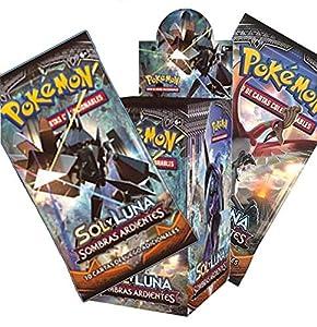 Pokemon JCC- Caja de 18 Sobres de: Sol y Luna: Sombras Ardientes sobre - Español (The Pokémon Company POSMBS02D)