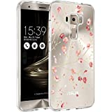 Coque Asus Zenfone 3 ZE520KL, WenJie Rose Plum Fleur Transparent Ultra Slim Tpu Coque...