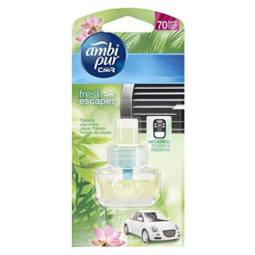 Ambi Pur Tatami Japonés - Recambio de ambientador para coche, 7 ml
