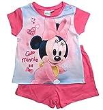 Minnie Mouse Kollektion 2018 Schlafanzug 68 74 80 86 92 Mädchen Shorty Pyjama Shortie Disney Maus (Rosa, 86-92)