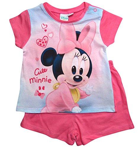 Minnie Mouse Kollektion 2018 Schlafanzug 68 74 80 86 92 Mädchen Shorty Pyjama Shortie Disney Maus (Rosa, 74) (Mädchen Pyjama Disney)
