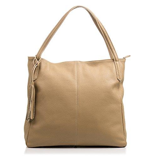 FIRENZE ARTEGIANI.Damentasche aus echtem Leder.Handtasche für Damen aus echtem Dollaro.wei Preisvergleich
