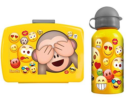 Emotix Emoji Brotdose Pausenbrot Lunchbox + Aluflasche smiley (40)