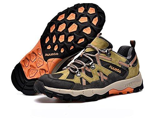 Suetar Scarpe da Trekking Traspiranti Antiscivolo Primavera ed Estate Sneakers Unisex per Outdoor Scarpe da Trekking in Pelle Resistente Orange