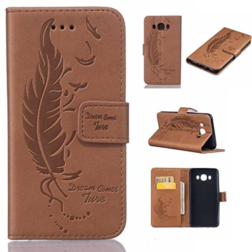 Galaxy J5 2016 (SM-J510FN) Case [with Free Screen Protector], BoxTii® Elegant PU Leather Wallet Case with Silicone Cover for Samsung Galaxy J5 2016 (SM-J510FN), Premium Flip Wallet with Card Slots Cash Holder Stand Function Magnetic Safety Clasp, Book Style Design Ultra Slim Fit Protective Folding Case Cover for Samsung Galaxy J5 2016 (SM-J510FN) (#6 Brown)