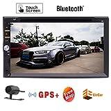 Wrieless Camera + del precipitare Autoradio GPS Navigator Doppia 2 DIN ad alta definizione touch screen capacitivo full touch da 7 pollici con Bluetooth + chiamate in vivavoce + incorporato mappa GP