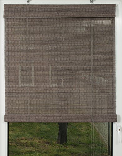 EFIXS Premium Bambusrollo / Rollup aus Rundstäbchen - 70 x 160 cm (Breite x Höhe) – Farbe: grau – weitere Größen im Angebot wählbar