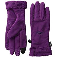OUTDOOR RESEARCH WOMENS FUZZY SENSOR GLOVES ORCHID (LARGE)
