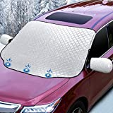 Sunbick Car Windshield Snow Cover, Magnetic Windscreen Cover Snow/Ice/Frost/UV/Dust Resistant Protector 147 X
