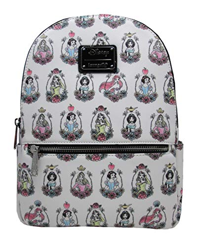 1b8511437277 Loungefly x Disney Princess Retratos - Mini mochila con impresión de  aleación, Multi color (Multicolor), Talla única