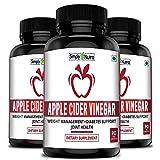 Simply Nutra Apple Cider Vinegar Capsules 500mg - 90 Veg Capsules (3)