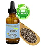 CHIA SEED OIL ORGANIC. 100% Pure / Natural / Undiluted / Cold Pressed Carrier Oil For Skin, Hair, Lip And Nail Care. 'A Remarkable And Stable Source Of Omega-3,6,9, B-Vitamins And Minerals.' 0.5 Fl. oz -15 ml. by Botanical Beauty.