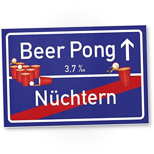 Beer Pong Schild lilablau – Schild, Geschenkidee lustiges Geschenk Einweihungsfeier Studenten, Mitbringsel Einweihungsparty WG-Party, Party Deko – Wanddeko, Mallorca Party Zubehör Trinkspiele
