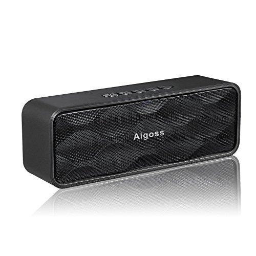 Aigoss Haut-Parleur Portable stéréo sans Fil Bluetooth 4.2 Son Haute définition et Basses améliorées avec Pilote intégré, appels Mains Libres, Radio FM, Emplacement pour Carte TF - No