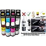 GoColor Refill Ink Compatible Ink For HP GT Series GT5810 GT5820 Printer Black 90 Ml & Color Universal Ink 70 Ml Each Bottles
