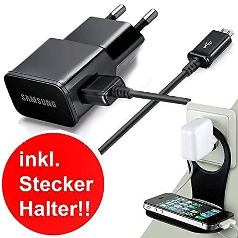Original Samsung 2-en-1 Chargeur et Câble de données USB ETA-U90E 2000mah Noir pour Samsung Galaxy - Compatible avec tous les modèles Galaxy