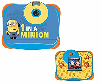 Lexibook Universal Despicable Me Minions 5MP Digital camera, LCD screen, video and webcam function, battery operated, yellow / blue, DJ136DES