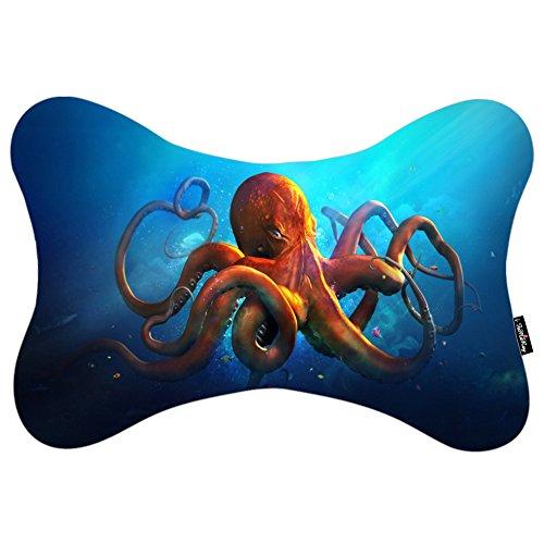i-famuray-cuscini-da-collo-car-pillow-memory-foam-pillow-animals-art-artwork-fantasy-ocean-octopus-s