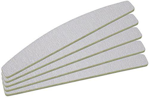 5 Stück Zebrafeile Halbmond- Körnung 100/180 - Kern Türkis - Ultra-Longlife Beschichtung - in Profi-Studioqualität