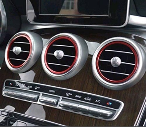 Preisvergleich Produktbild ht4you AMG Lüftungsdüsen C-Klasse GLC W205 X253 7 teilig rot Lüftungsringe Ringe Lüftungsgitter Zierringe außen