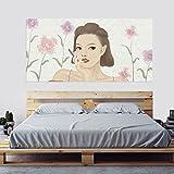 GOUZI Kurzes Haar Göttin kreative Bett - eine personalisierte Startseite Dekor Wandmalerei ist eine Voll-, 90 * 180 cm Abnehmbare Wall Sticker für Schlafzimmer Wohnzimmer Hintergrund Wand Bad Studie Friseur