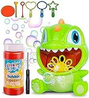 Bubble Machine, Dinosaur Automatic Bubble Maker with Bubble Solution & 5 Bubble Wands,1000+ Bubbles per Mi