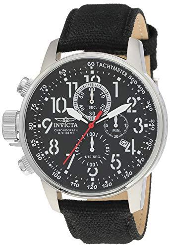 Invicta 1512 I-Force Herren Uhr Edelstahl Quarz schwarzen Zifferblat - Invicta Silikon Bands Watch