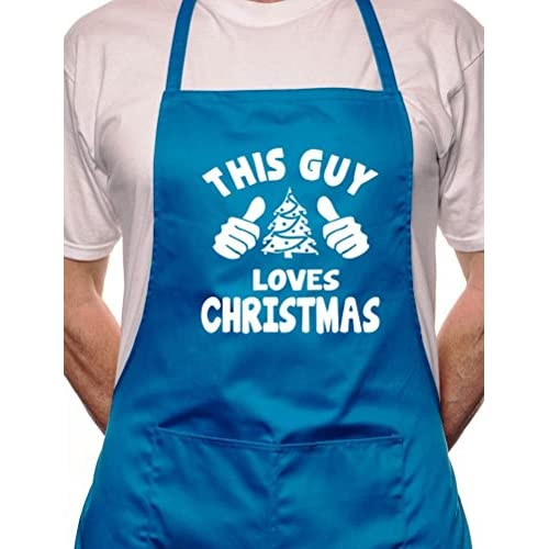 """This Guy Loves Christmas"" Christmas Apron - Various Colour Available"