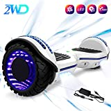 2WD 6.5 '' Hoverboard Scooter eléctrico Las Ruedas LED Luces Self Balance Scooter con Bluetooth, Scooter eléctrico 6.5'- UL2272...