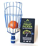 EVERSPROUT Cestino Coglifrutta Filettato | Avvitabile su Asta Filettata Standard (ACME 3/4') | Accessorio Raccogli Frutta (Solo Testina, Asta Non Inclusa)