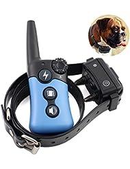 [Vente chaude 2017] Silaite chien collier de dressage avec télécommande série platine, gamme Rechargeable, étanche, 330-Yard Dog distance choc collier avec bip, Vibration, clignotement collier électronique