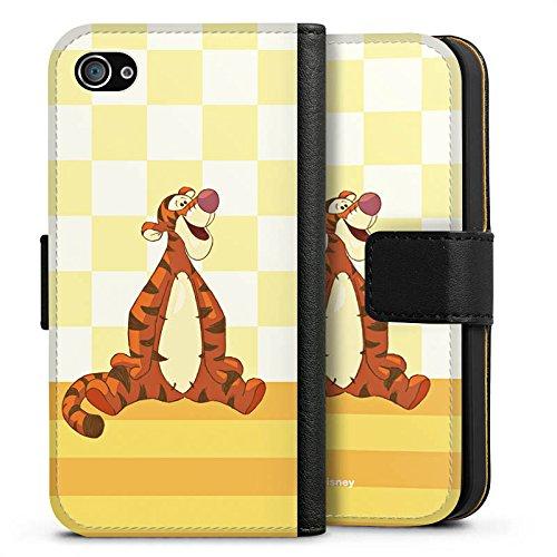 Apple iPhone X Silikon Hülle Case Schutzhülle Disney Winnie Puuh Tigger Fanartikel Merchandise Sideflip Tasche schwarz