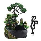 AUNMAS Fontana da Giardino a Cascata Piccolo Giardino roccioso con Decorazione Zen Meditation Waterfall Desk