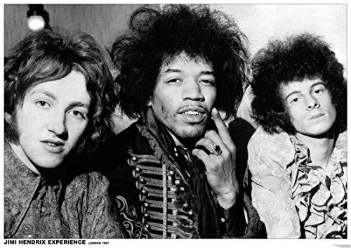 The Poster Corp Jimi Hendrix/Experience London 1967 Laminiertes Plakat (91,44 x 60,96 cm) -