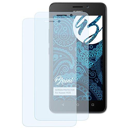 Bruni Schutzfolie für Huawei Y635 Folie, glasklare Displayschutzfolie (2X)
