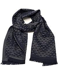 816dfe65d000 Emporio Armani sciarpa uomo 625052 8A367 00436 blu grigio lana