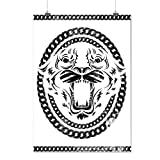 Bête Sauvage Furieux Animal Animal Visage Matte/Glacé Affiche A2 (60cm x 42cm) | Wellcoda