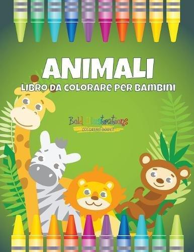 Animali : Libro da colorare per bambini
