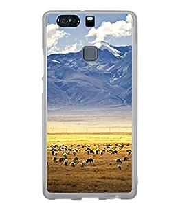 Fuson Designer Back Case Cover for Huawei P9 Plus (caligraphy text font sentense water )