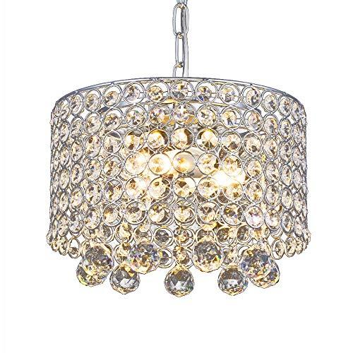 Moderne Kristall-Kronleuchter, 3-Licht Einbau Deckenleuchte 9,8 Zoll Durchmesser für Flur, Esszimmer, Schlafzimmer, Wohnzimmer, Küche -