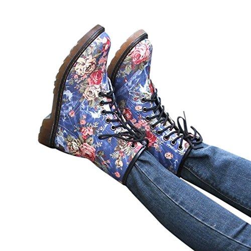 Chaussures Femmes,Sonnena Bottes Femme Bottes Plat Doux Compensées Bas Tube Moyen Bottes Chaussures Décontractées Sneakers Shoes