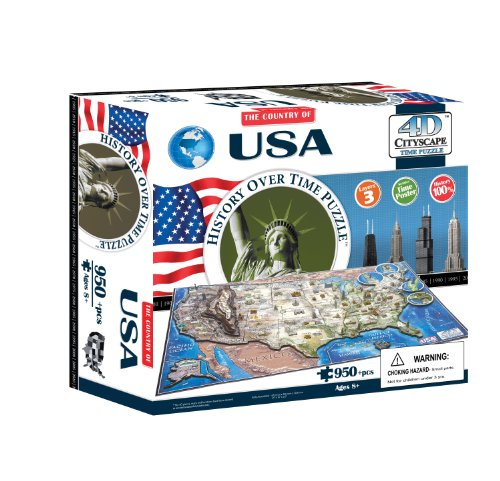 4D Cityscape 40008 USA Puzzle