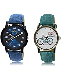 The Shopoholic Black Blue White Combo New Collection Black And Blue And White Dial Analog Watch For Boys And Girls...