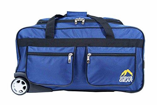 New Outdoor Gear Reisetasche mit Rollen Trolley Koffer Gepäck Reise Urlaub Tasche Medium 61cm Zoll Schwarz schwarz 61 cm (24 zoll) blau