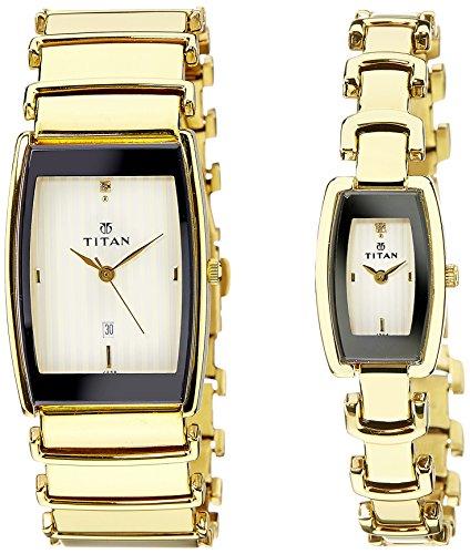 514VdUr4NdL - Titan NE13772385YM01 Bandhan Couples watch