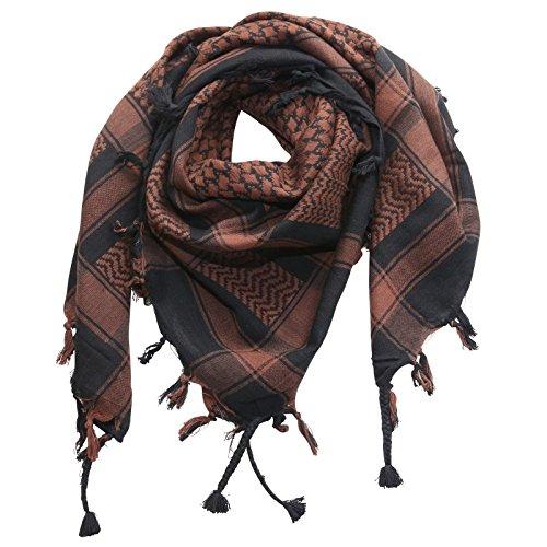 Superfreak® Palituch Grundfarbe schwarz°PLO Schal°100x100 cm°Pali Palästinenser Arafat Tuch°100% Baumwolle, Farbe: schwarz/braun